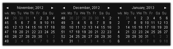 10 Beautiful jQuery Calendar Plugins 2