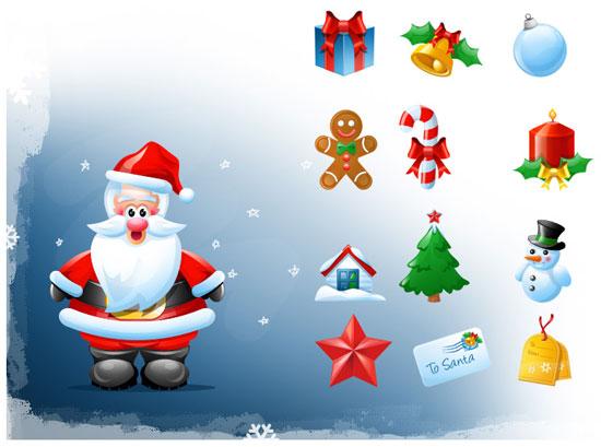 10 Beautiful Set of Christmas Icons for Web Designers 1