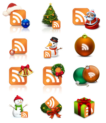 10 Beautiful Set of Christmas Icons for Web Designers 5