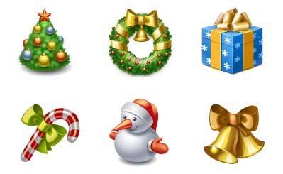10 Beautiful Set of Christmas Icons for Web Designers 6