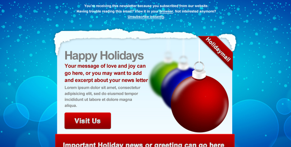 20 Beautiful Newsletter and Website Templates for Christmas Season