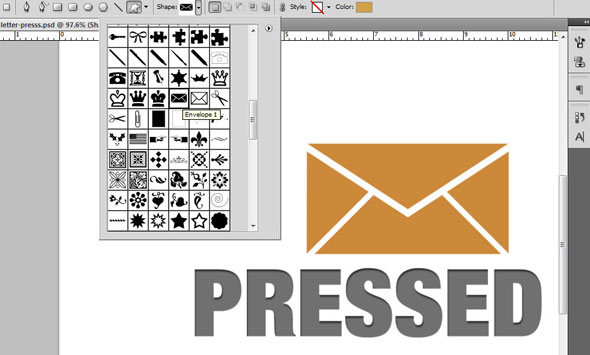 Creating a Letterpress Effect Using Text and Shapes 4