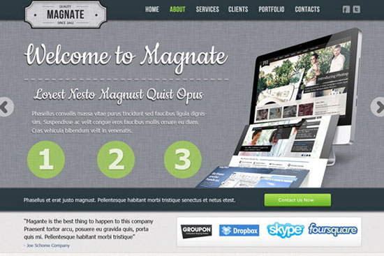 30 Fresh PSD Website Templates for Free Download 8