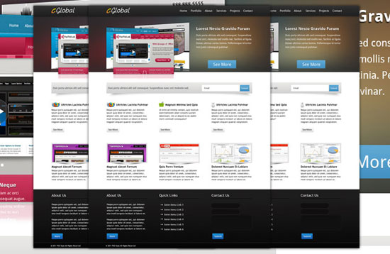 30 Fresh PSD Website Templates for Free Download