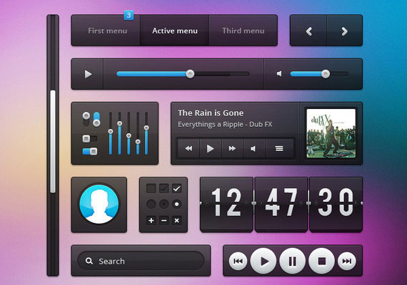 15 Free and Useful Web User Interface PSDs