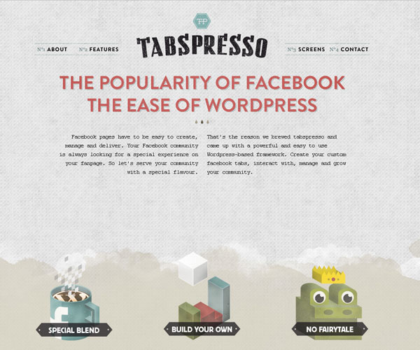 20 Magnificent Examples of Texture Usage in Web Design 10