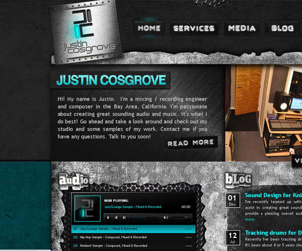 20 Magnificent Examples of Texture Usage in Web Design 18