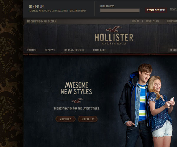 20 Magnificent Examples of Texture Usage in Web Design 6
