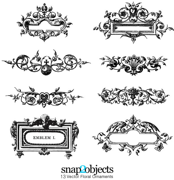 20 Free Set of Ornaments Vector Resources 8