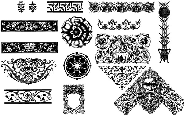 20 Free Set of Ornaments Vector Resources 13