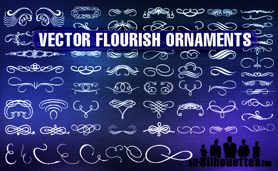 20 Free Set of Ornaments Vector Resources 2