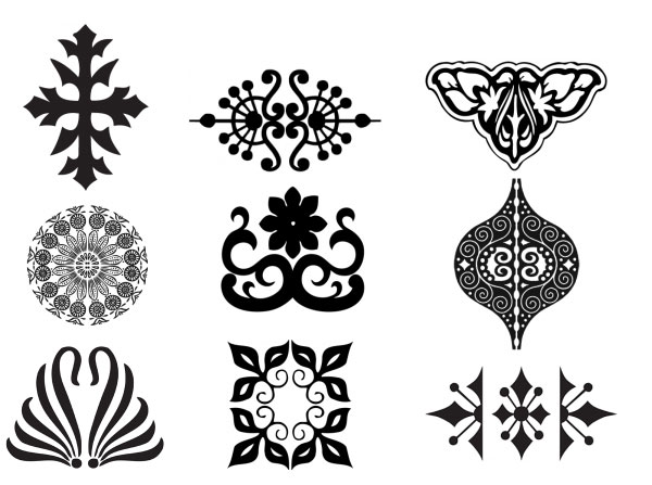 20 Free Set of Ornaments Vector Resources 3
