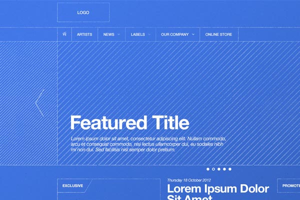 12 Trending BluePrints and Wireframes for Website and Mobile App Design