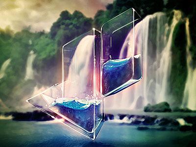 Glass Logo Design Artwork