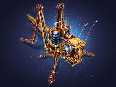 Mechanical Grasshopper