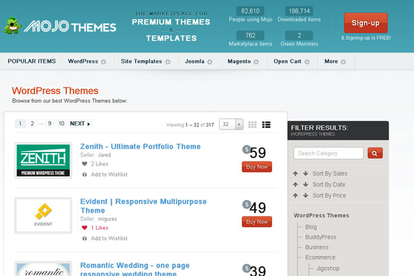 Ultimate Collection of Best Premium Wordpress Theme Store 4
