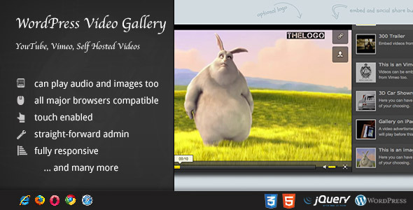 WordPress Video Gallery for Clear Display