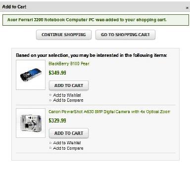 Magento Ajax Cart Spares Shopping Time 4