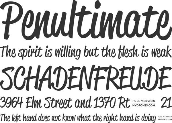 25 Free Brush Fonts For Designers 18
