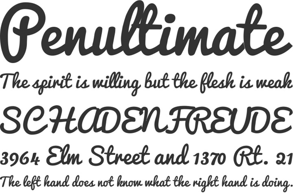 25 Free Brush Fonts For Designers 20