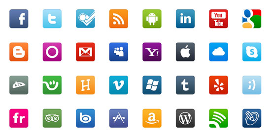30+ Latest Free Flat Icon Sets For Your Use 8