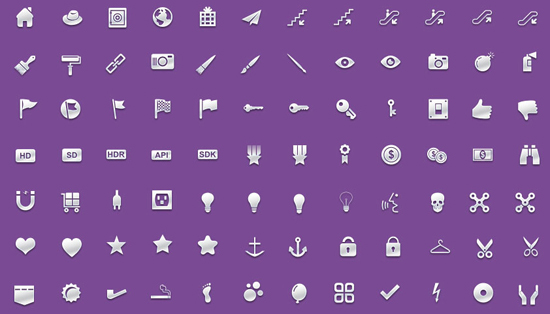 30+ Latest Free Flat Icon Sets For Your Use 12