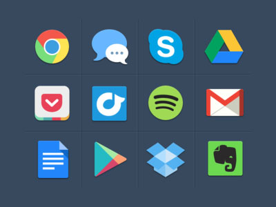 30+ Latest Free Flat Icon Sets For Your Use 16