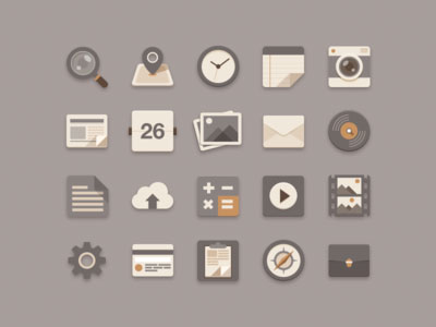 30+ Latest Free Flat Icon Sets For Your Use 19