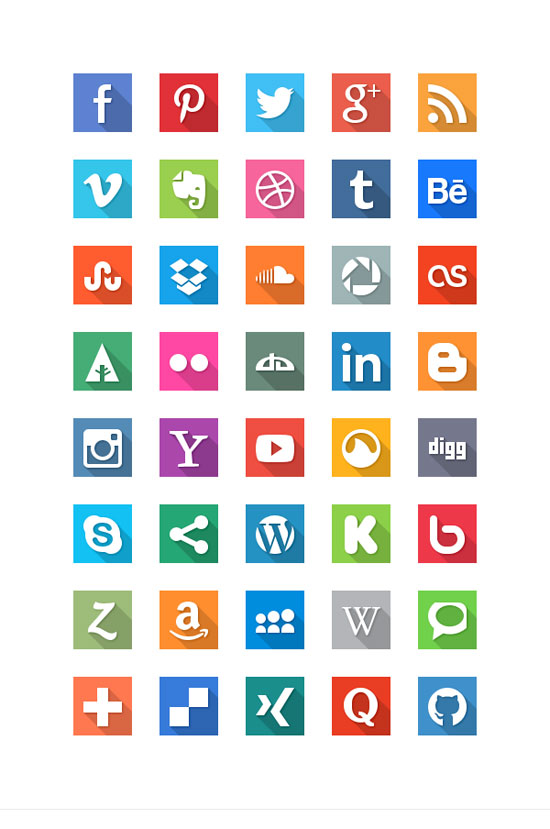 30+ Latest Free Flat Icon Sets For Your Use 22