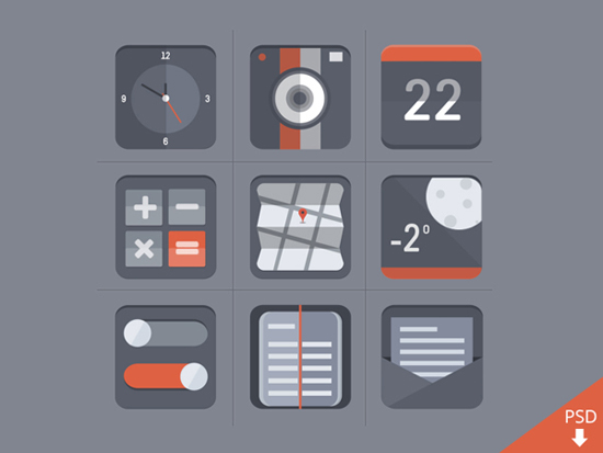 30+ Latest Free Flat Icon Sets For Your Use 25