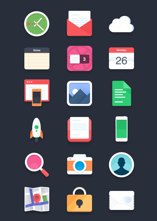 30+ Latest Free Flat Icon Sets For Your Use 28