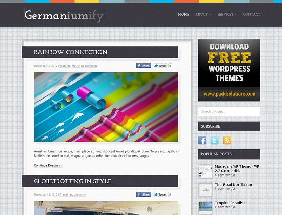 25 Free High Quality WordPress Themes 1