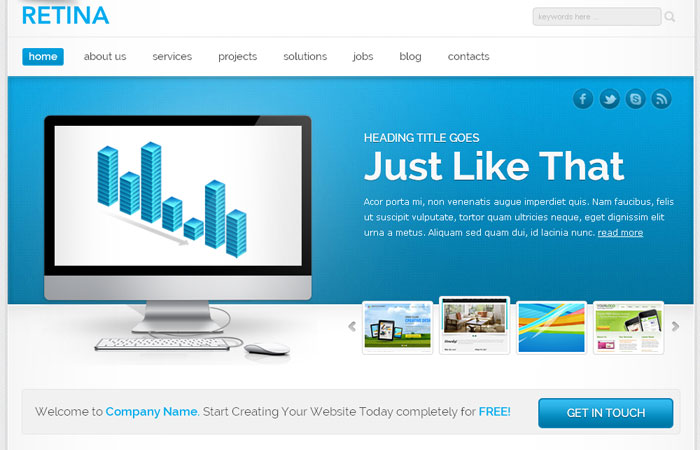 20 Free Responsive High Quality HTML/CSS Website Template 11