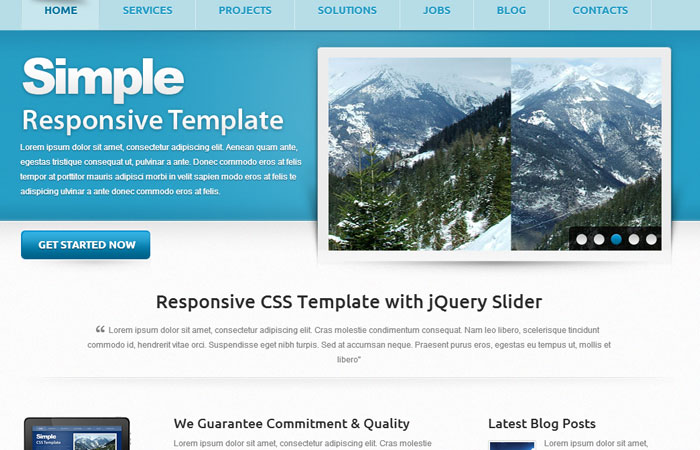 20 Free Responsive High Quality HTML/CSS Website Template 16