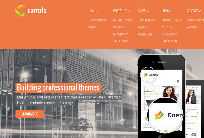 20 Free and Premium PSD Website Templates