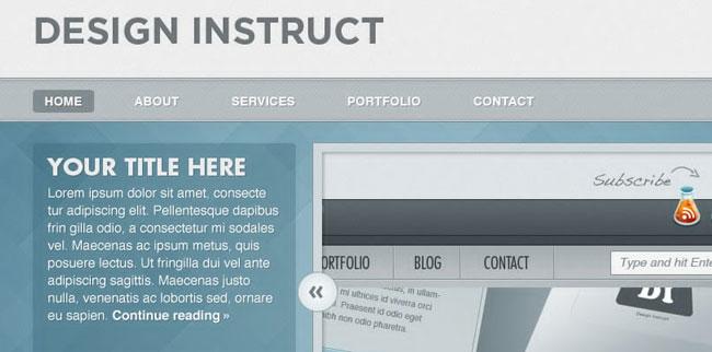 10 Vibrant Web Design Tutorials with Source File 4
