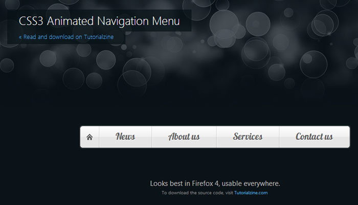 15 Fresh Navigation Menu Tutorial using CSS3 and HTML5 4