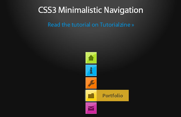 15 Fresh Navigation Menu Tutorial using CSS3 and HTML5 8