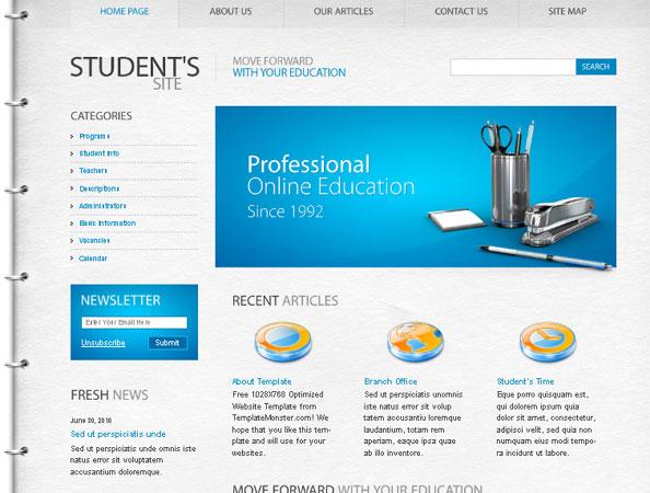 20 Beautifully Designed Free PSD Website Template