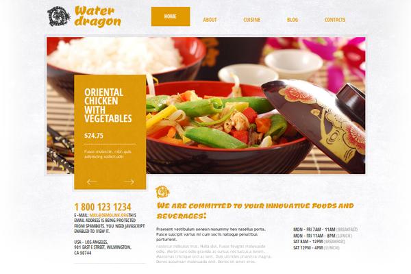 Beautiful collection of premium joomla templates restaurant maxwellsz