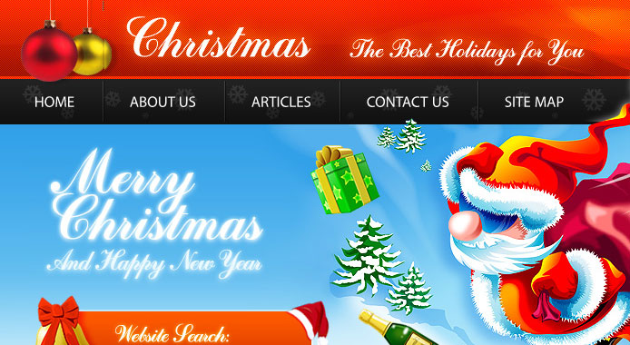15 Free Christmas Web Element and Website Template 11
