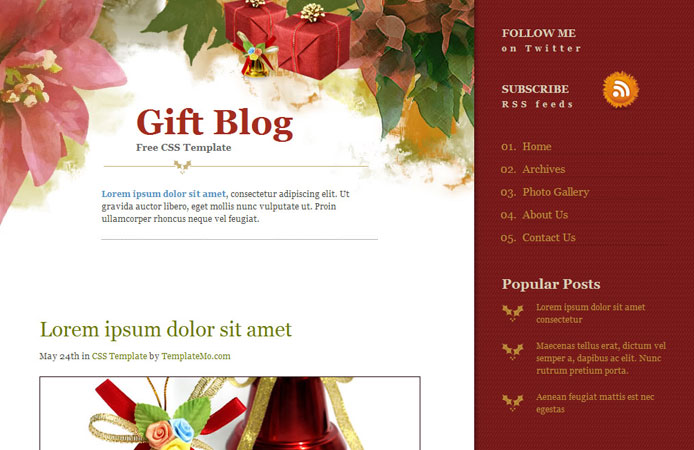 15 Free Christmas Web Element and Website Template 12