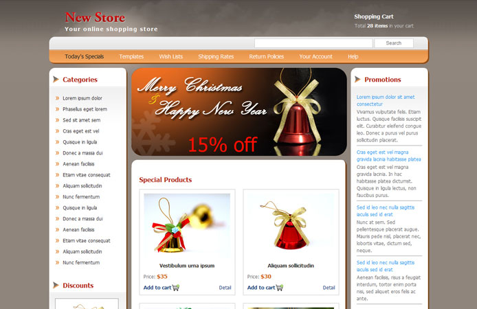 15 Free Christmas Web Element and Website Template 13