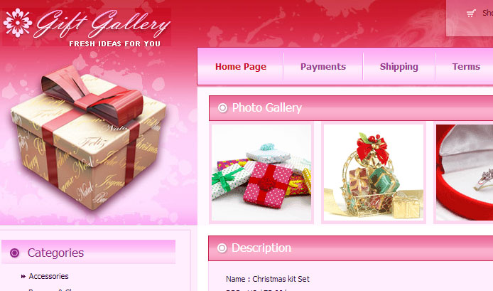 15 Free Christmas Web Element and Website Template 14