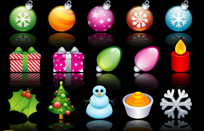15 Free Christmas Web Element and Website Template