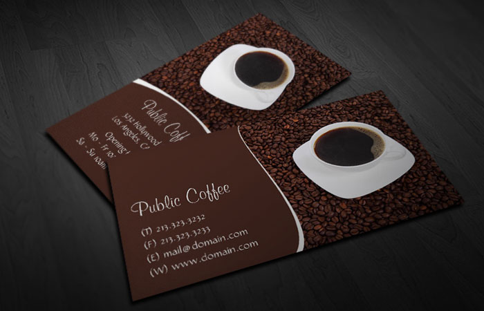 20 free photoshop business card templates djdesignerlab coffee cup business card wajeb Choice Image