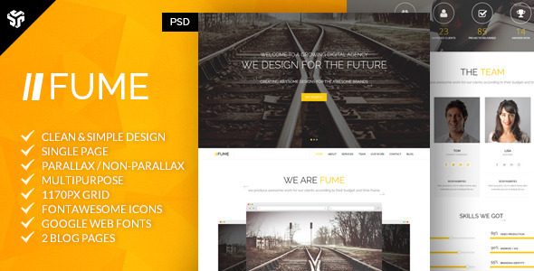 15 Free and Premium Website Templates with PSD