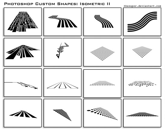 20 Most Useful Custom Shapes for Photoshop Users 1