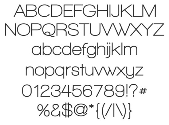 20 Fresh Free Font for Web Designers 10