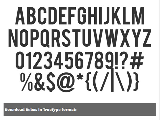 20 Fresh Free Font for Web Designers 11